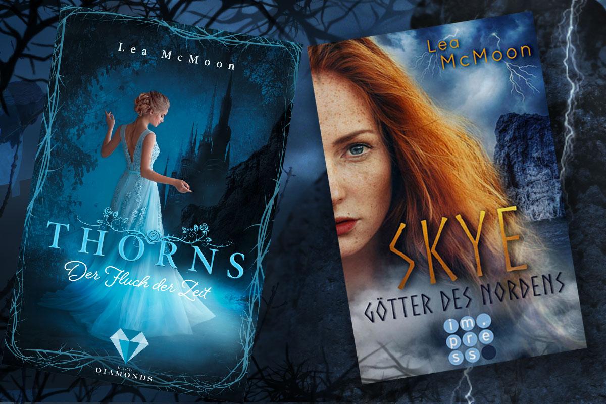 Cover der Geschichten Thorns. Der Fluch der Zeit und Skye. Götter des Nordens